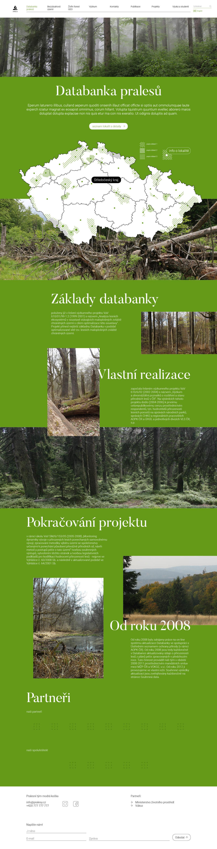 Pralesy ČR, webdesign, desig, Brno