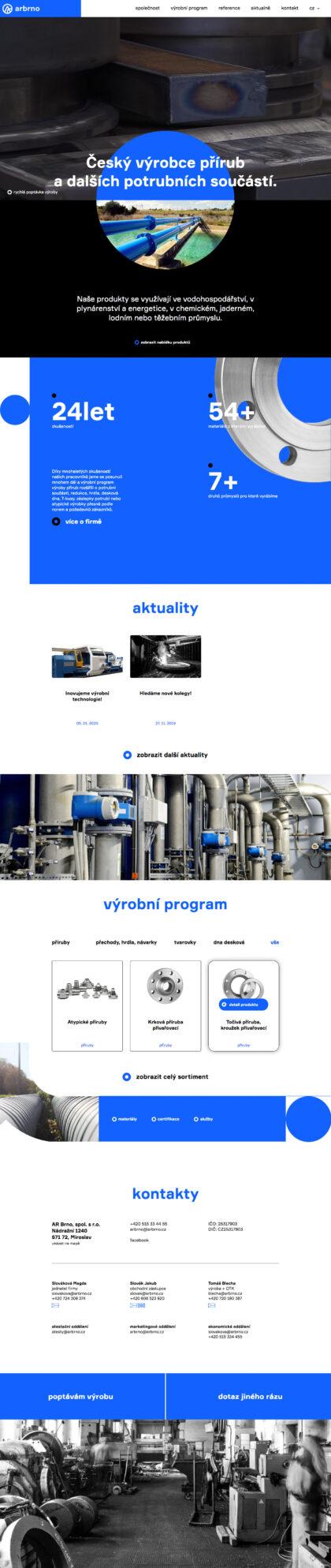 AR Brno - realizace, Web design