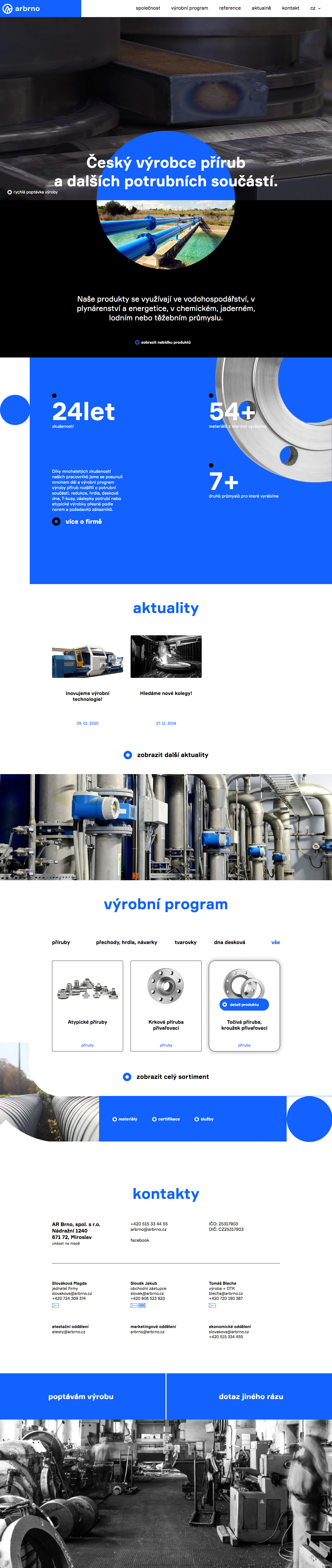AR Brno - realizace, Webdesign