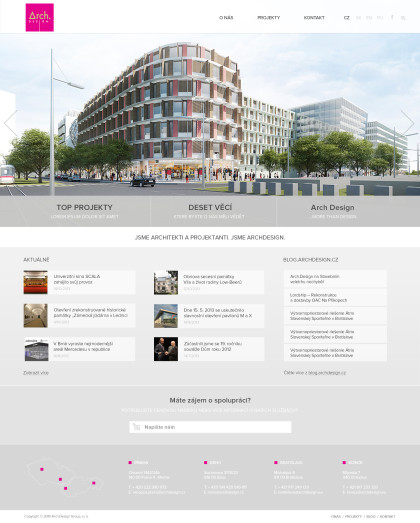 Web Arch.design - realizace, Web design