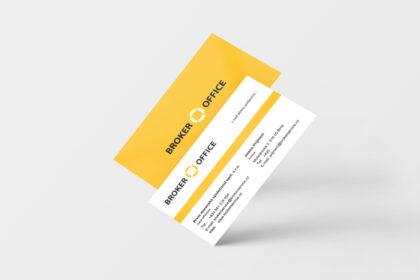 Broker Office cards - realizace, Logo&Print
