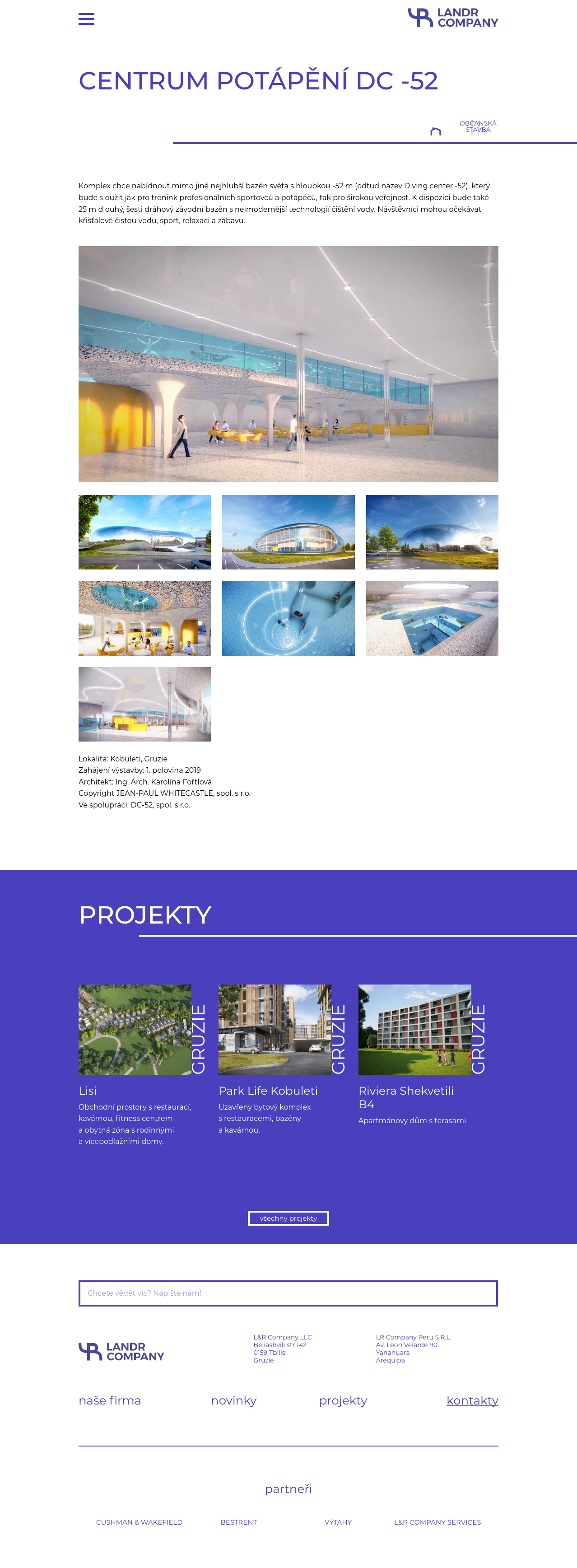 Landr company - webdesign, corporate identity, website creation, Brno