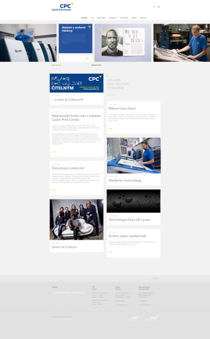 Czech Print Center - realizace, Webdesign