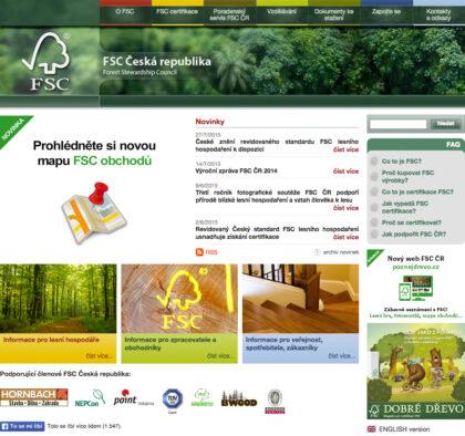 Czech FSC - realizace, Web design