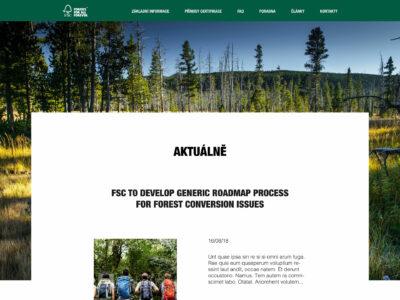 FSC – lesnický web