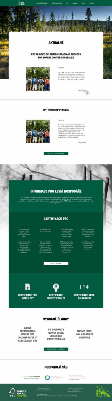 FSC – lesnický web - realizace, Web design