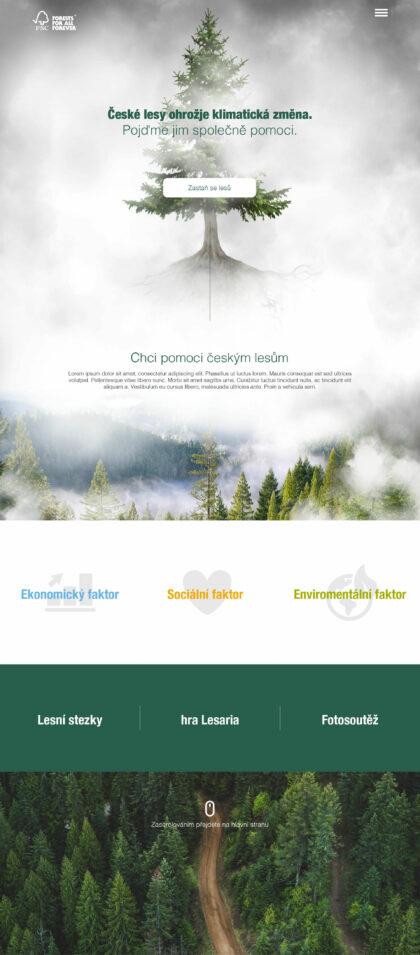 FSC – Poznej drevo - realizace, Web design