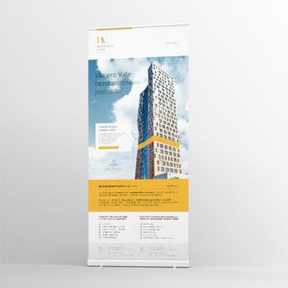 HVIC Roll up - realizace, Logo&Print