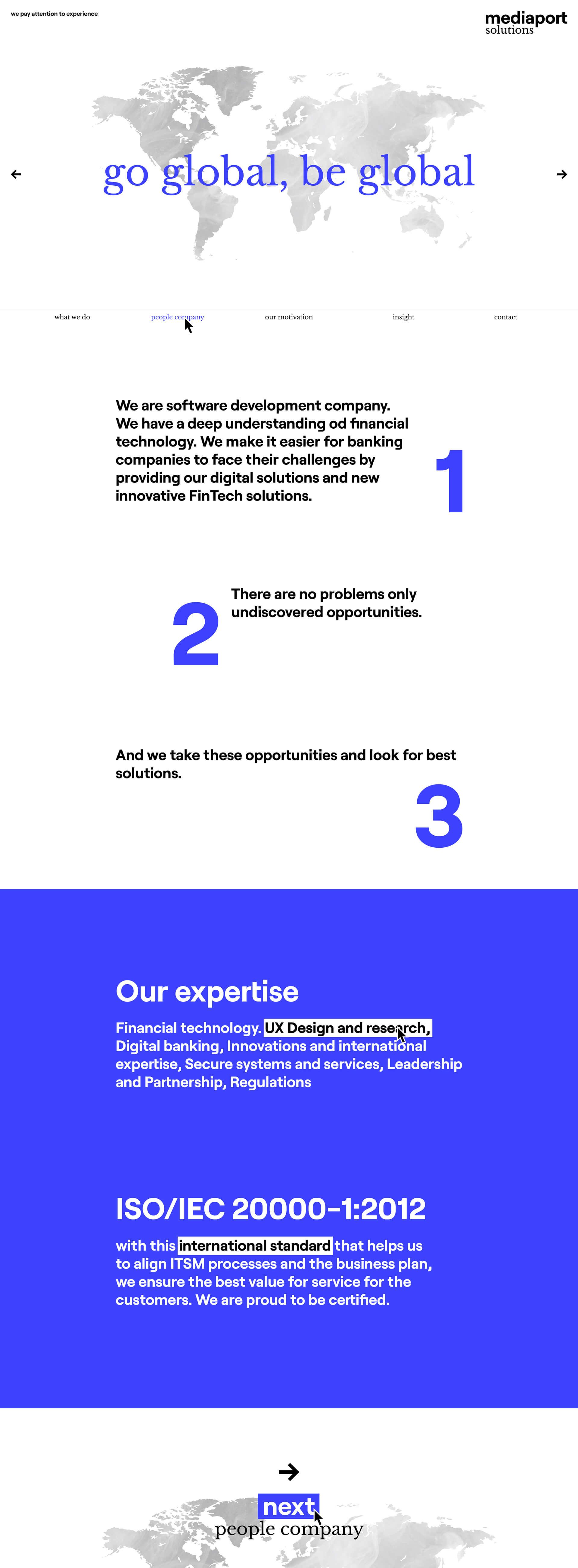 Mediaport solutions - realizace, Webdesign