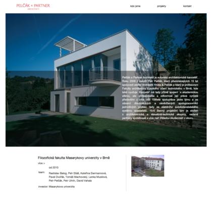 Pelčák a partner - realizace, Web design
