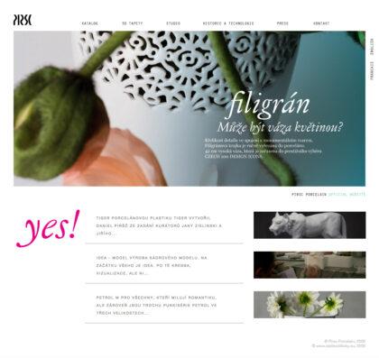 PIRŠČ Porcelain - realizace, Web design