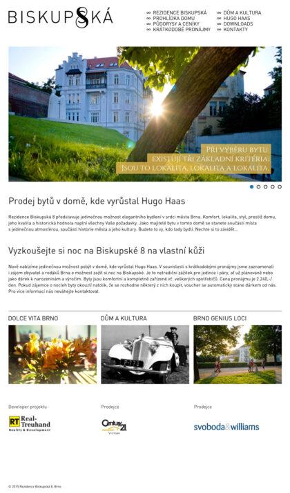Realizace Webdesign Rezidence Biskupská 8, Brno