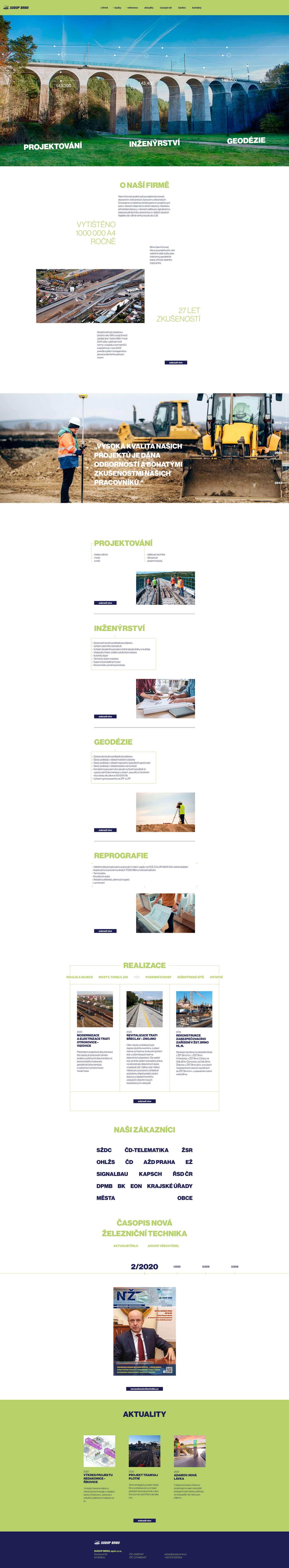 Sudop Brno - realizace, Webdesign