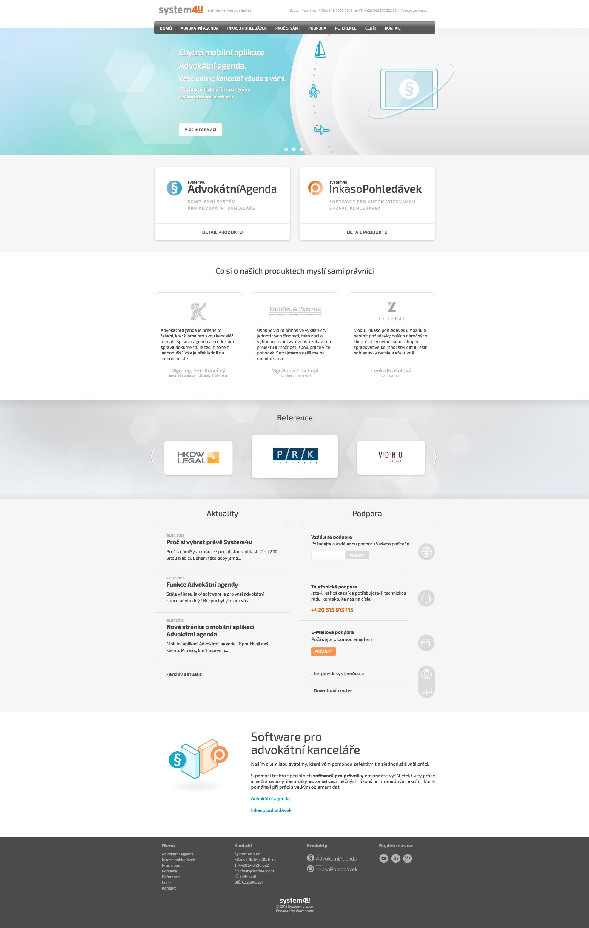 Software pro právníky - realizace, Webdesign