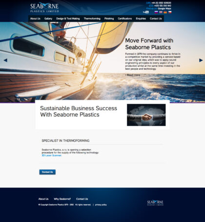 Seaborne Plastics - realizace, Web design