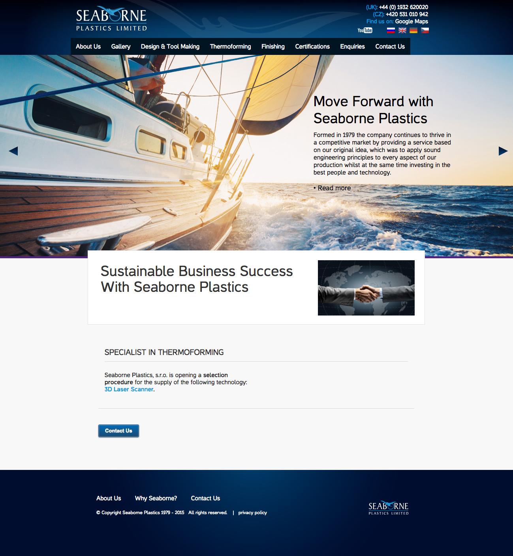 Seaborne Plastics - realizace, Webdesign