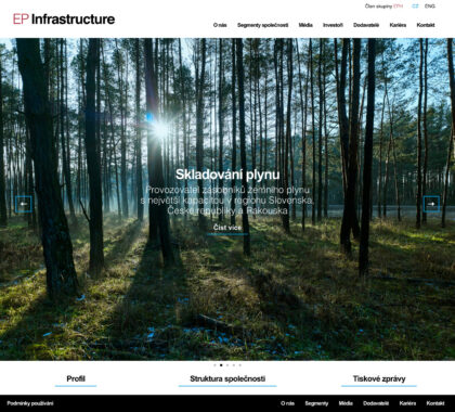 EP Infrastructure - realizace, Web design