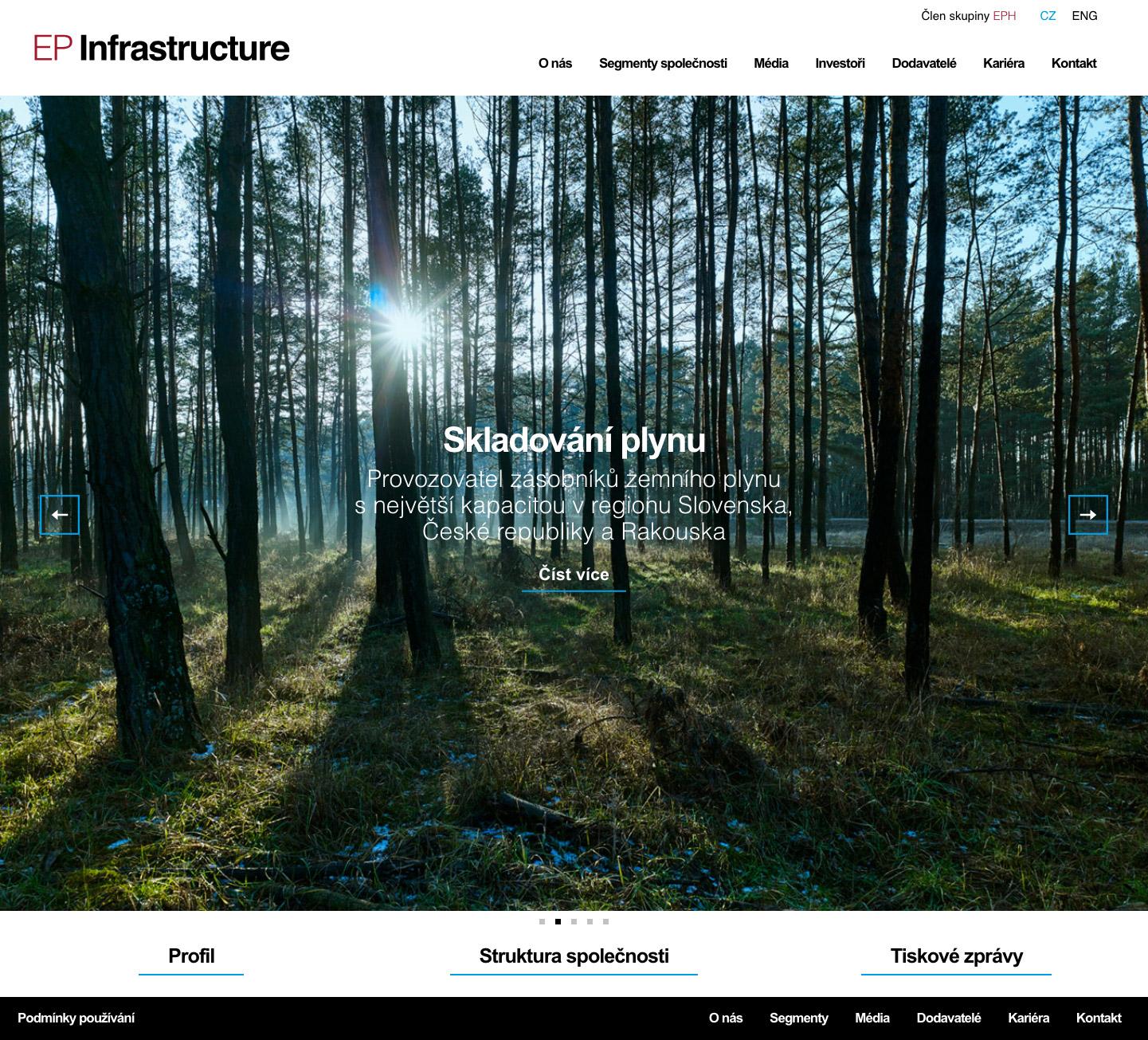 EP Infrastructure - realizace, Webdesign