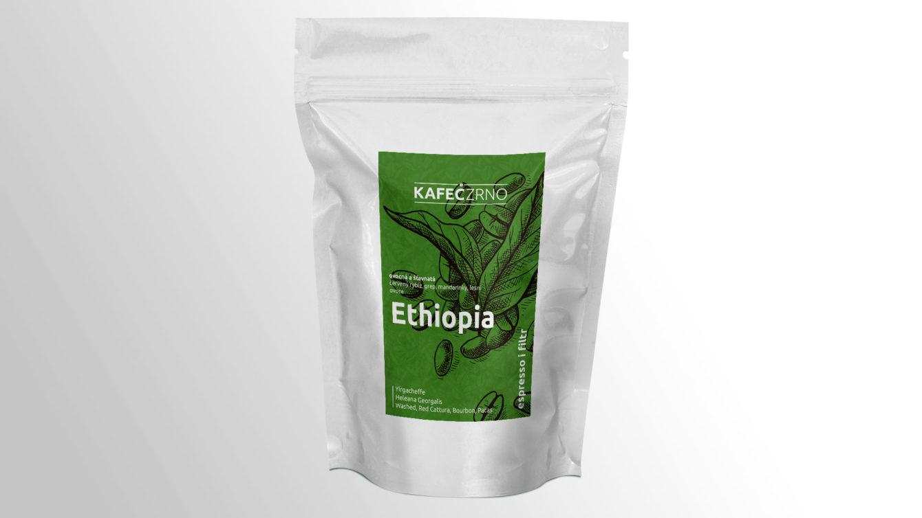 Kafec – coffee packaging, corporate identity, Brno