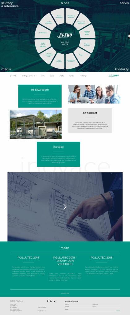 In – eko - realizace, Web design
