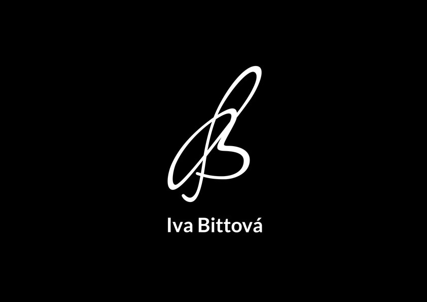 Iva Bittová logo and print, identity, webdesign, Brno