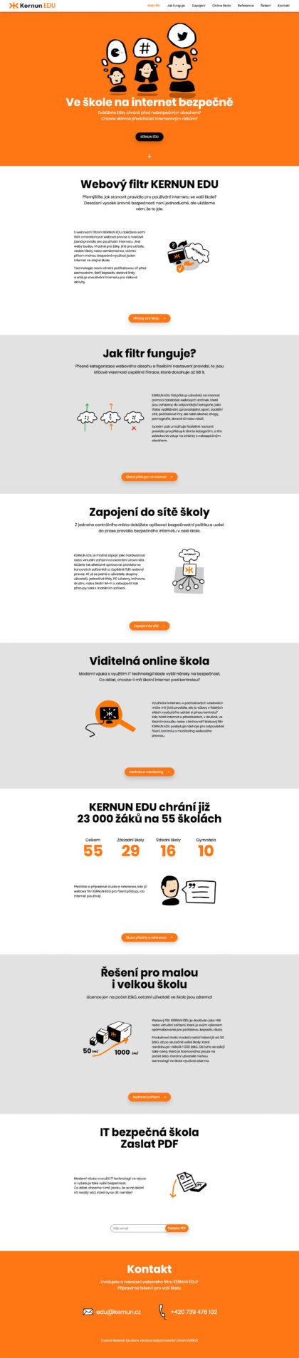 Kernun EDU - realizace, Web design