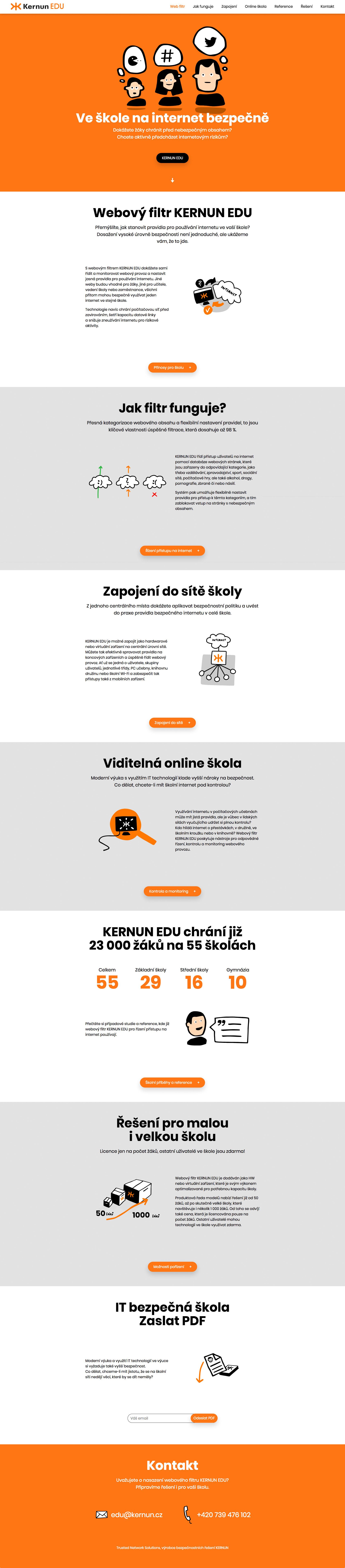 Realizace Webdesign Kernun EDU