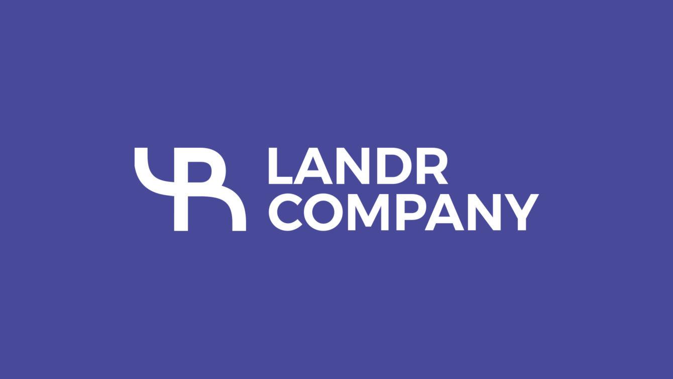 Landr company logo, Logo and Print, webdesign Brno