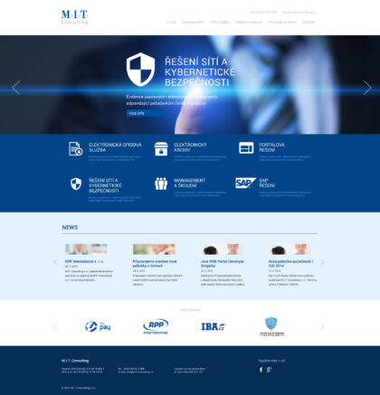 M.I.T. Consulting - realizace, Web design