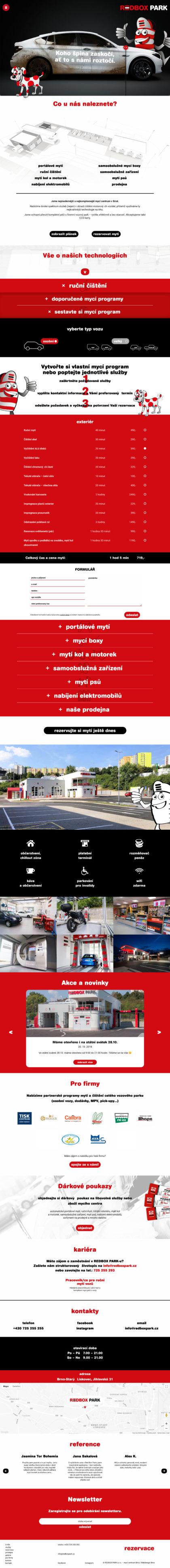 Redbox park - realizace, Web design