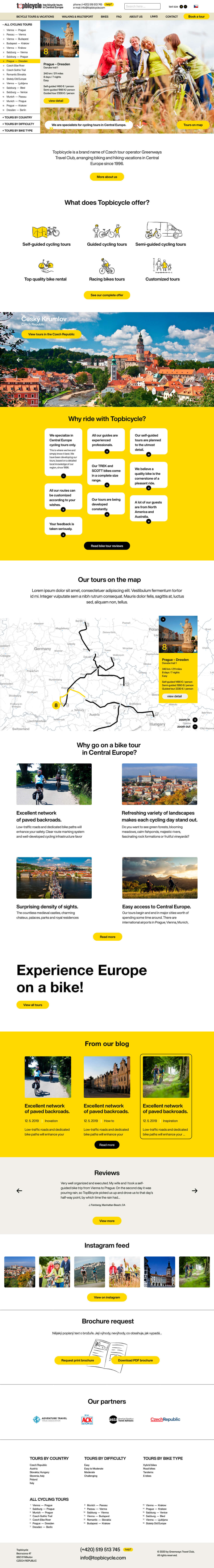 Top bicycle - realizace, Webdesign