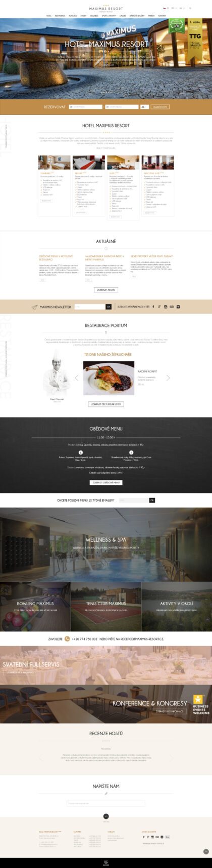 Hotel Maximus Resort - realizace, Webdesign