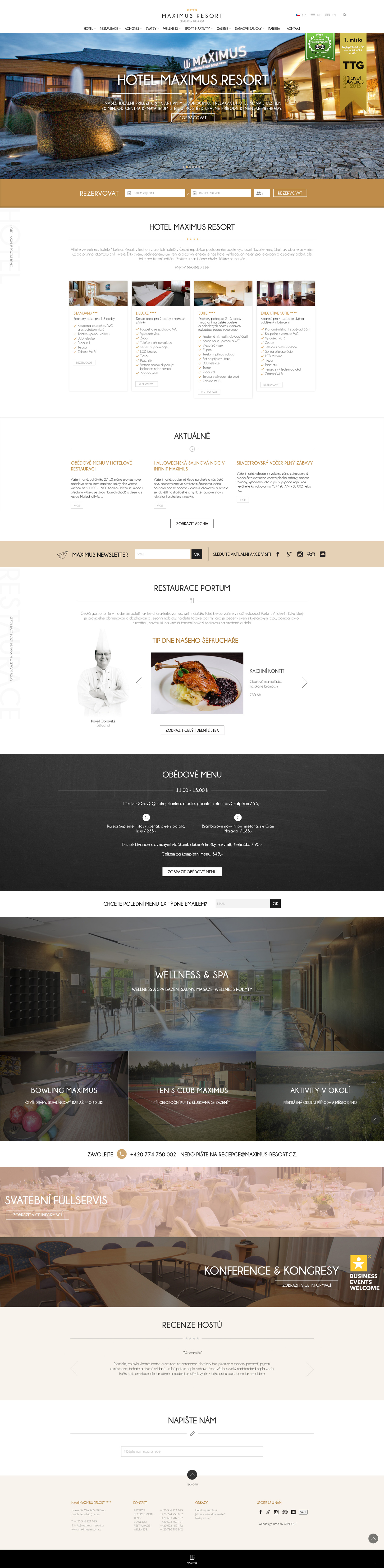 Hotel Maximus Resort - realizace, Webdesign