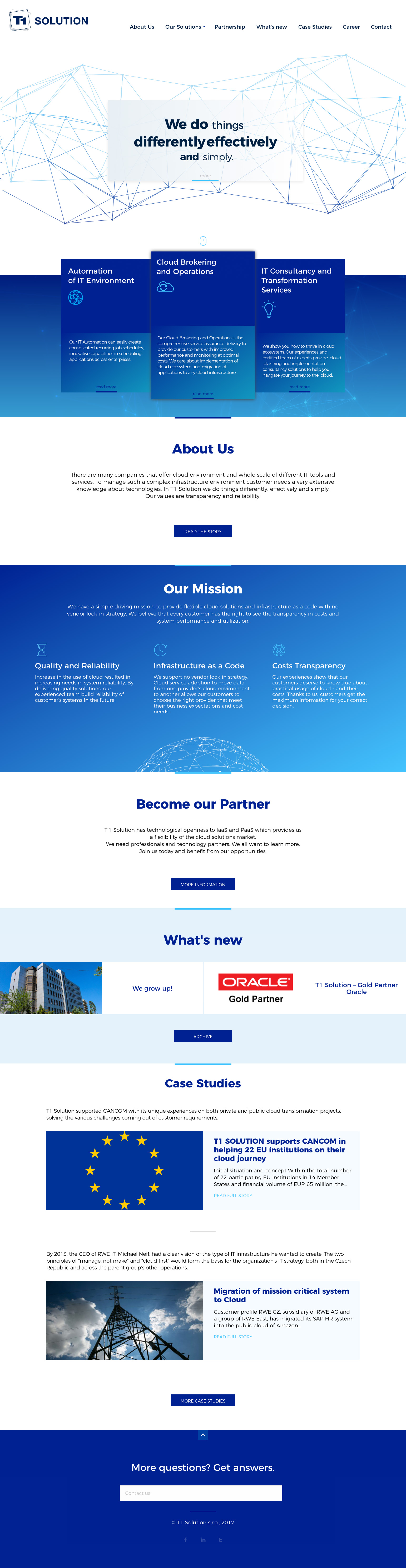 Realizace Webdesign T1 Solutions