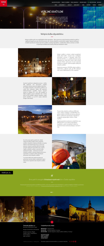 Technické sítě Brno, návrh www stránek
