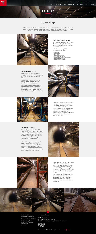 Technické sítě Brno, tvorba webových stránek, webdesign, Brno