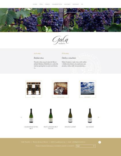 Gala Vinařství - realizace, Web design