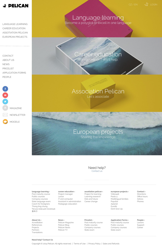 Jazyková škola PELICAN - realizace, Web design
