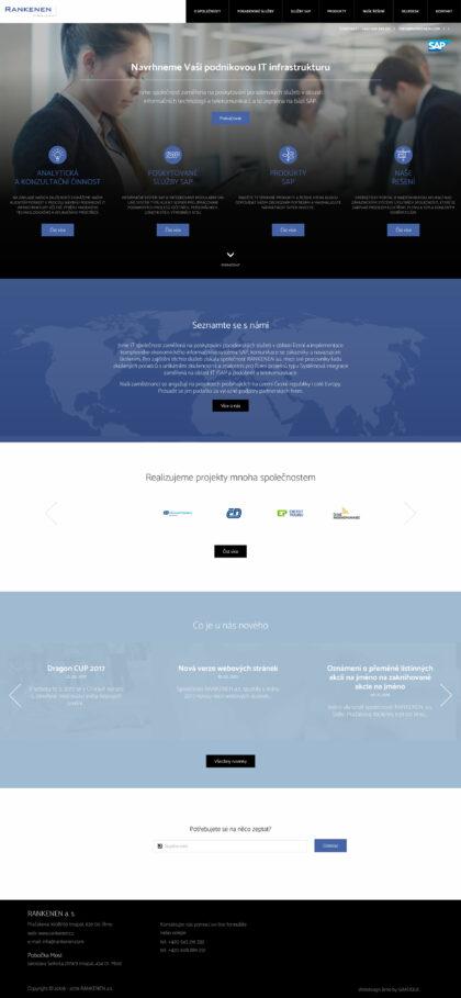 RANKENEN a.s. - realizace, Web design