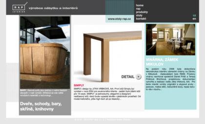 RAP interier - realizace, Web design