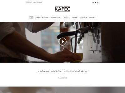 Web kavárny KAFEC - realizace