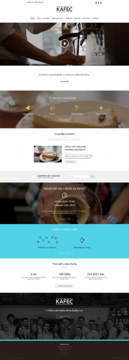 Realizace Webdesign Web kavárny KAFEC