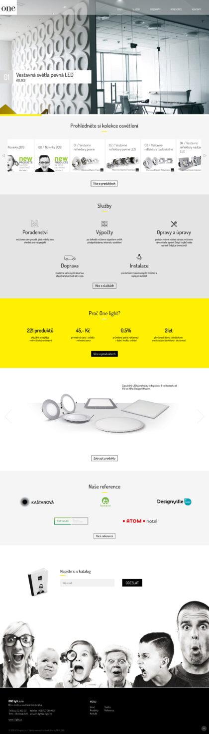 OneLight - realizace, Web design