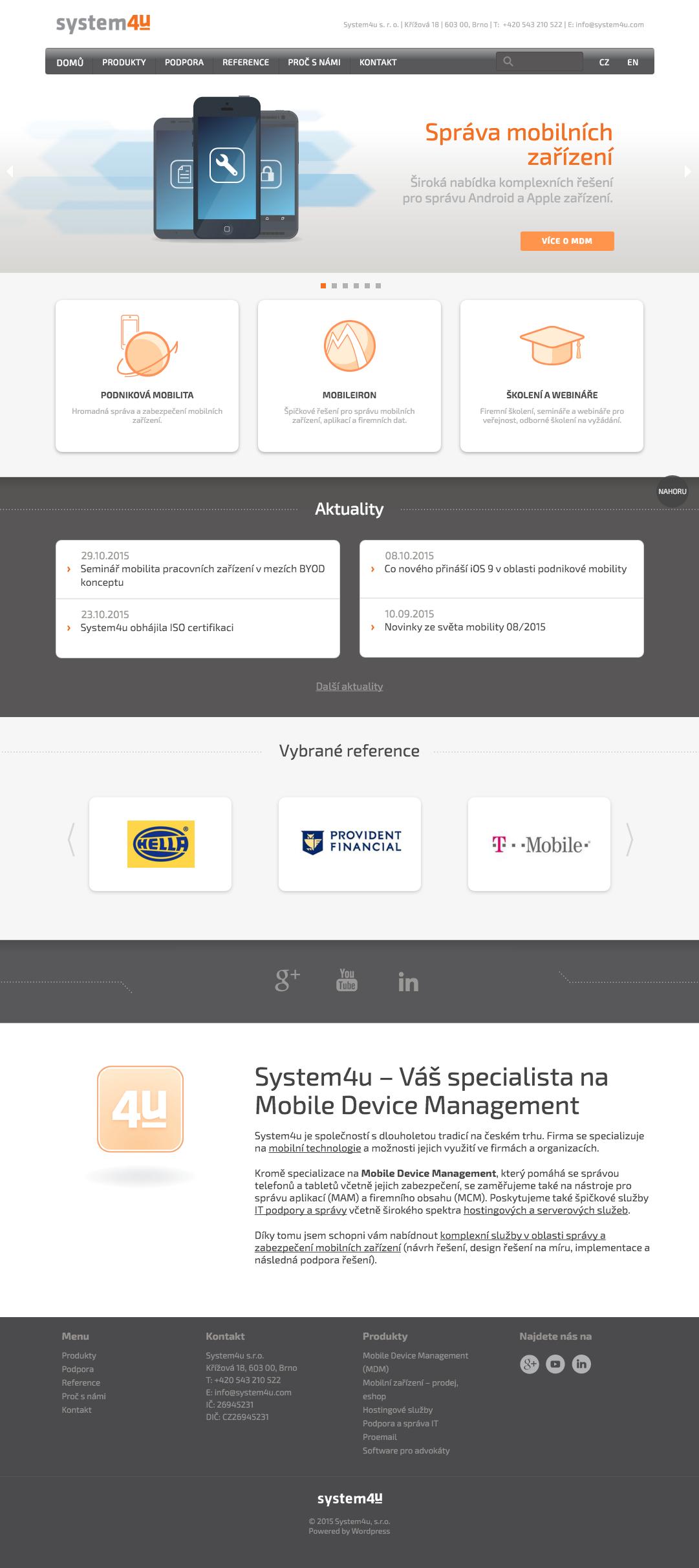 System4u - realizace, Webdesign