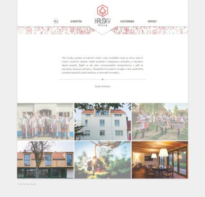 Vila Hrušky - realizace, Web design