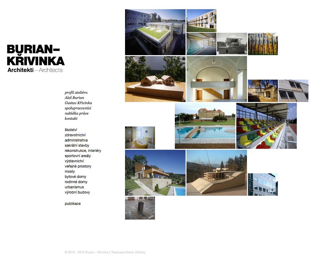 Burian Křivinka - realizace, Webdesign