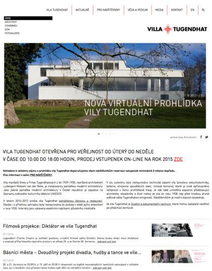 Realizace Webdesign Vila Tugendhat
