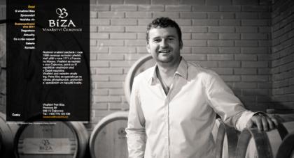 Vinarství Bíza - realizace, Web design