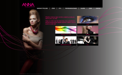 ANNA KOLÁŘOVÁ - realizace, Web design