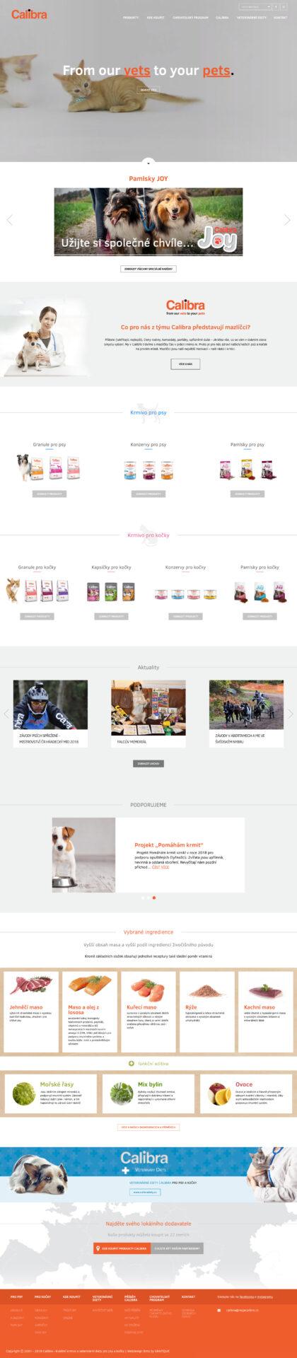 Moje Calibra website - realizace, Web design